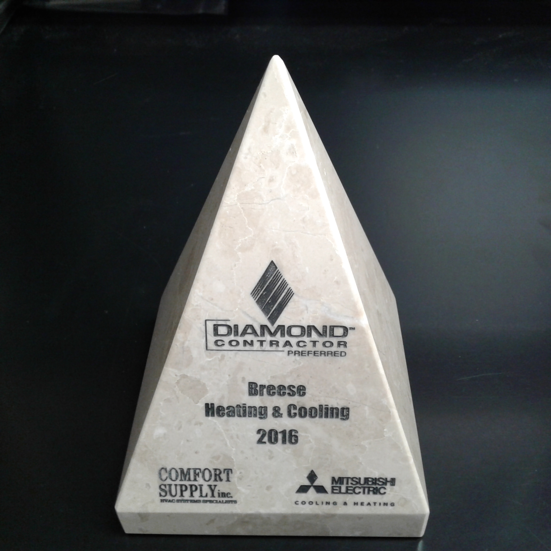 Preferred Diamond Contractor Award